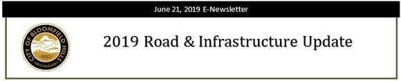 City of Bloomfield Hills  - 2019 Road & Infrastructure Program