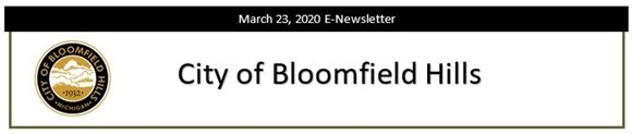 City of Bloomfield Hills - March 23, 2020