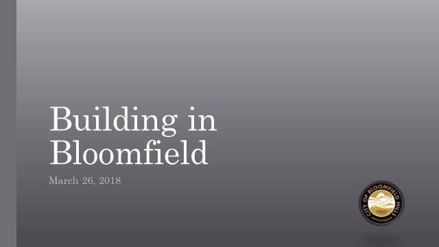 building in bloomfield logo