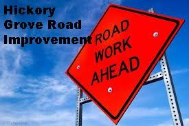 road work ahead hickory grove