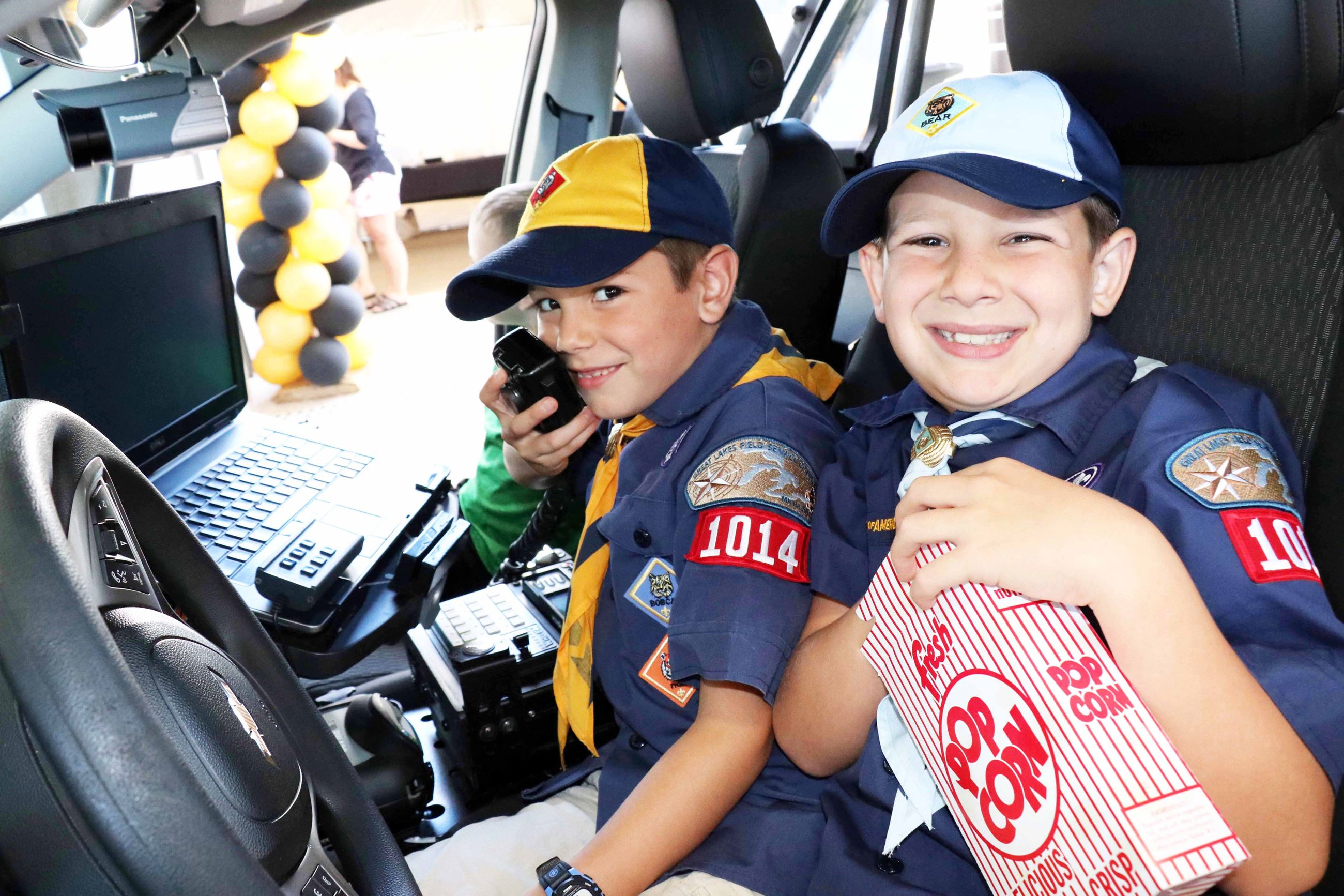 Kids in Patrol Car
