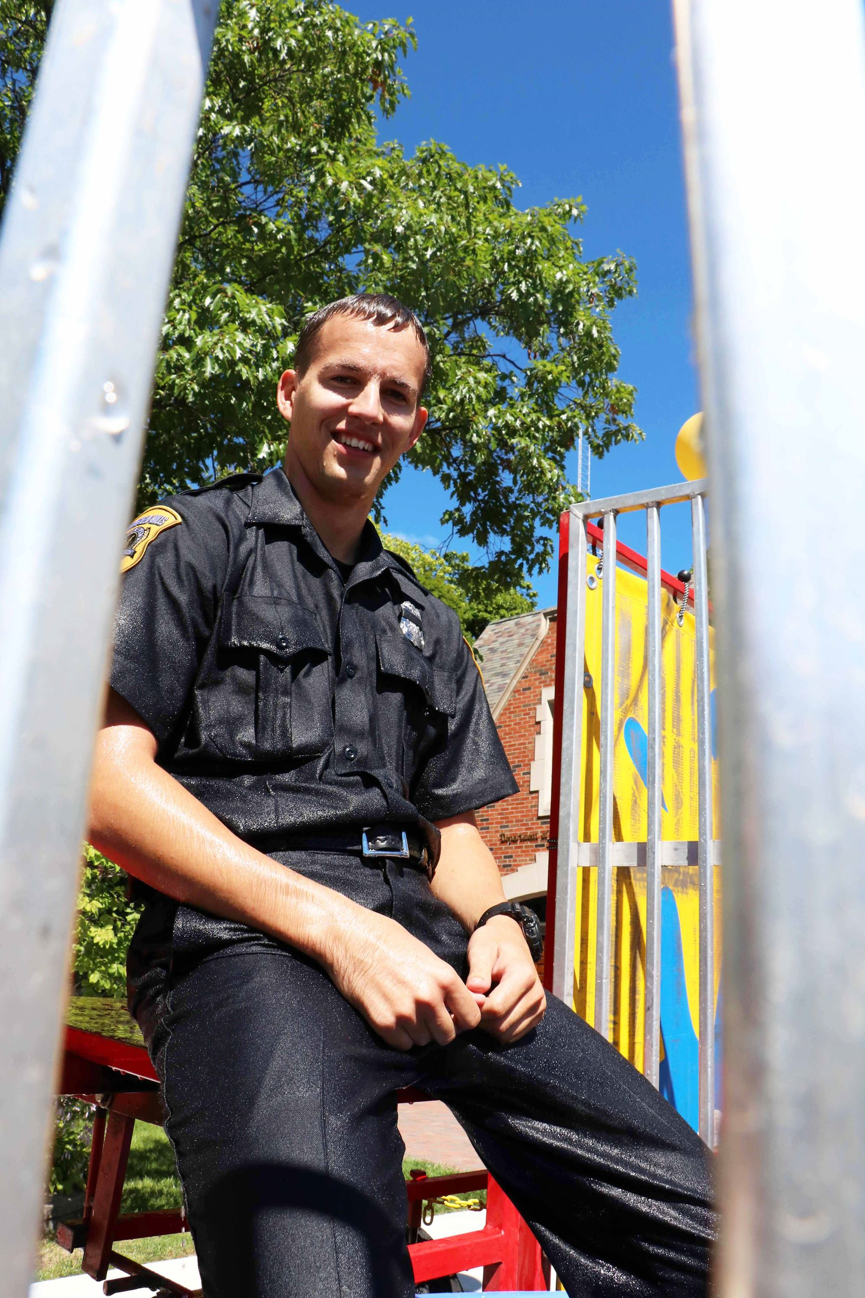 Officer in Dunk Tank
