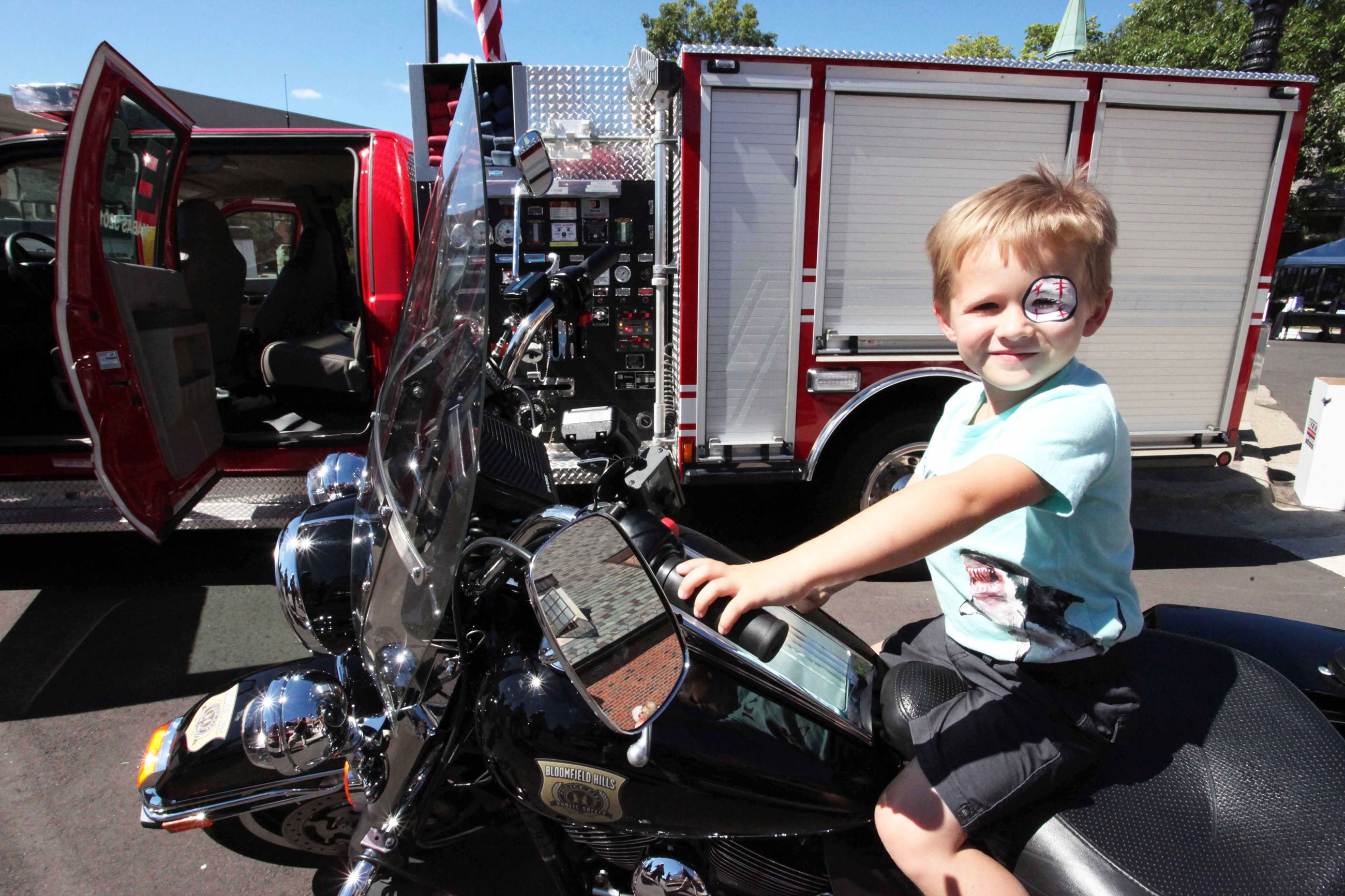 Little Boy on Police Motorcycle