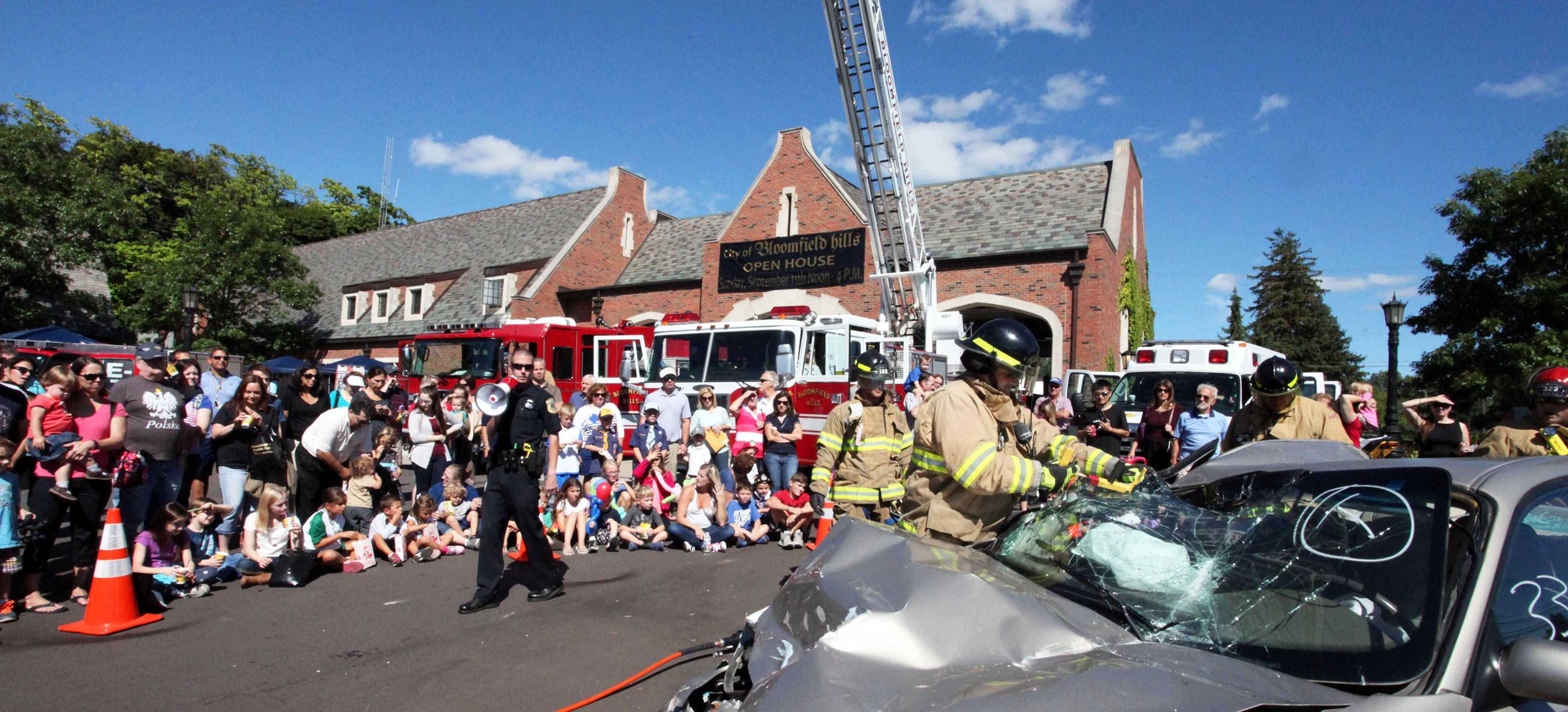 Citizens Gathering for Jaws of Life Demonstration